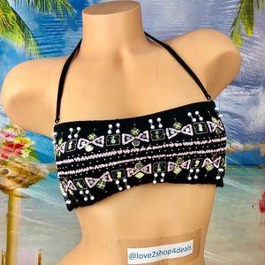 ! Victoria's Secret embellished bandeau swim top